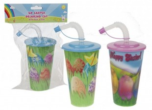 3d Easter Drinking Cup With Flexi Straw in Kuwait