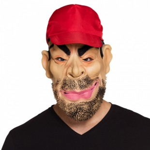 Adult Latex Face Mask Horror Trucker With Cap in Kuwait