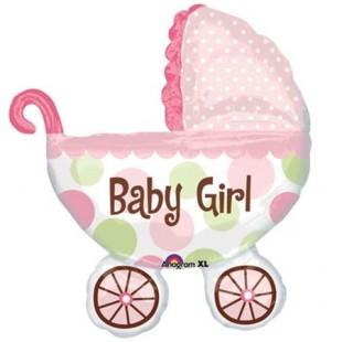 Baby Buggy Girl Balloon in Kuwait