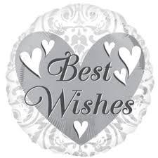 Buy Best Wishes Wedding Foil Balloon in Kuwait