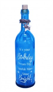 Birthday Glass Bottle With Led in Kuwait