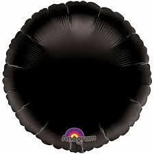 Black Round Balloon 18