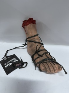 Bloody Foot With Barbed Wire in Kuwait
