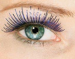 Blue Tinsel Eyelashes in Kuwait