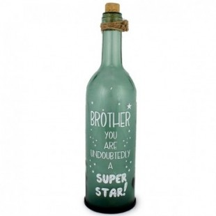 Buy Brother Glass Bottle With Led in Kuwait