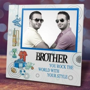 Buy Brother You Rock Photo Frame in Kuwait