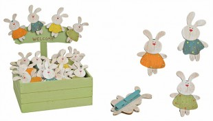 Bunny Clip In Wood Display Wood in Kuwait
