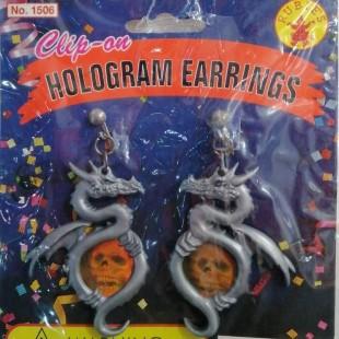 Clip-on Hologram Earrings in Kuwait