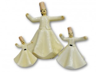 Dancing Mawled Man Canister - Set - Italian Ceramic in Kuwait