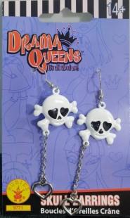 Drama Queens Skull Earrings in Kuwait