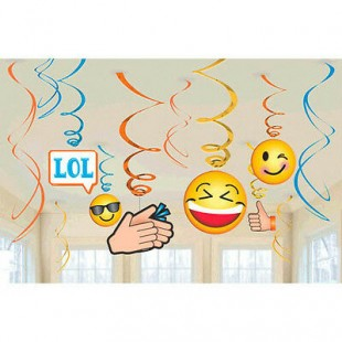 Emoji Lol Hanging Swirl Decorations  in Kuwait