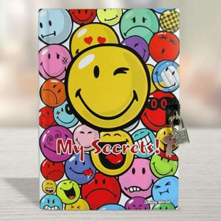 Buy Exercise Book With Lock Smiley - 433205 in Kuwait