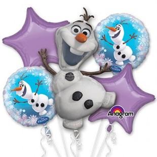 Frozen Olaf 5pc Balloon Bouquet - Birthday Decoration Party in Kuwait