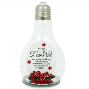 Buy Glass Bulb Quotation - For My Dear Wife in Kuwait