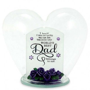 Glass Heart Quotation- Dad in Kuwait