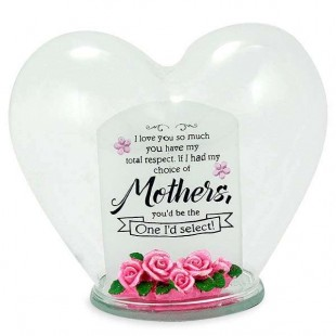 Buy Glass Heart Quotation- Mother in Kuwait