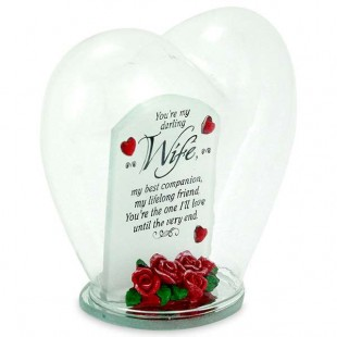 Buy Glass Heart Quotation- You're My Darling Wife in Kuwait