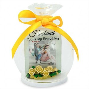 Buy Glass Round Quotation- Husband You're My Everything in Kuwait