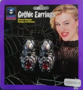 Gothic Earrings Demon Design in Kuwait
