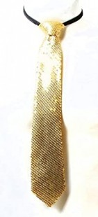 Halloween Necktie  With Sequence Gold/silver in Kuwait