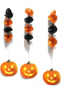 Halloween Spiral Decoration 3pcs Assorted in Kuwait