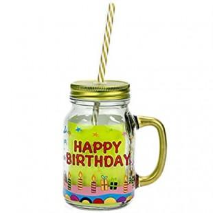 Happy Birthday - Mason Jar in Kuwait