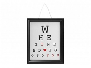 I Love You Hanging Eye Test Frame With Hang Tag in Kuwait