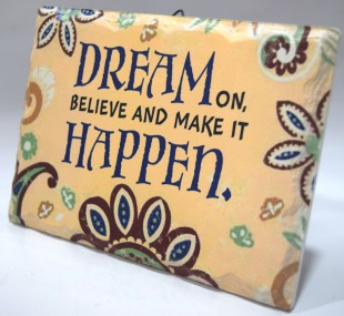 Buy Inspirational Stone Quotation - Dream On in Kuwait