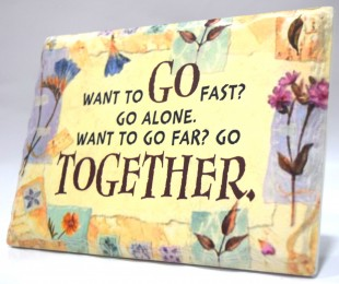 Buy Inspirational Stone Quotation - Want To Go Fast? in Kuwait