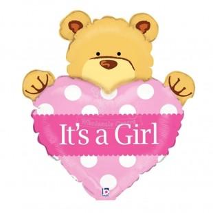 Buy It's A Girl Bear With Heart  in Kuwait