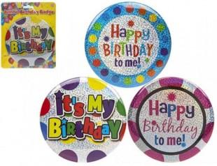Jumbo Happy Birthday Badge - Asst in Kuwait