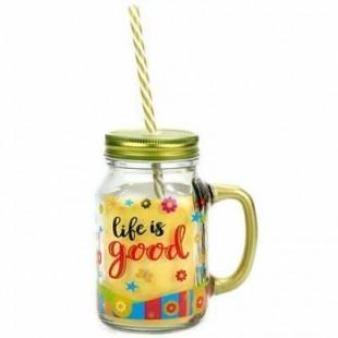 Buy Life Is Good Mason Jar in Kuwait