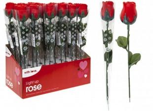 Light Up Rose In Pvc Wrap in Kuwait