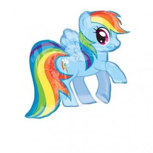 My Little Pony Rainbow Dash Super Shape Foil Balloon in Kuwait