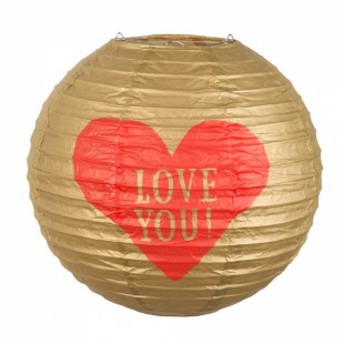 Paper Lantern 'love You!' With Wire Frame in Kuwait