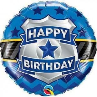 Police - Happy Birthday Standard Balloon in Kuwait