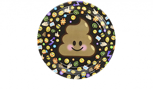 Poop Emoji Paper Plates, 18cm in Kuwait