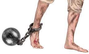 Prisoner Anklet Cuff With Chain And Ball in Kuwait