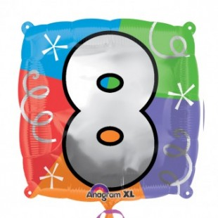 """Quad Number """"8"""" – Foil Balloon in Kuwait"""