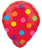 Red Oval Polka Dots 181587 in Kuwait