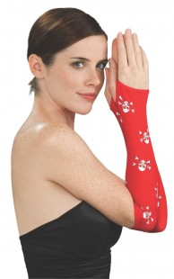 Red Skull & Crossbones Glovelets in Kuwait