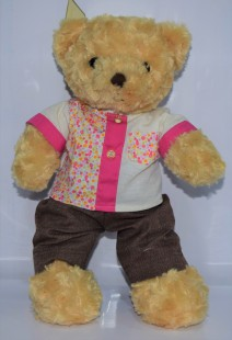 Buy Soft Toy Bear With Outfit in Kuwait