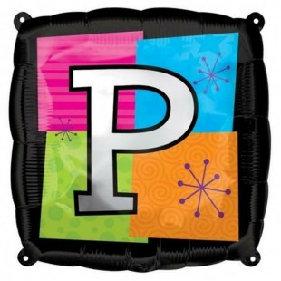 Square Letter P Foil Balloon in Kuwait