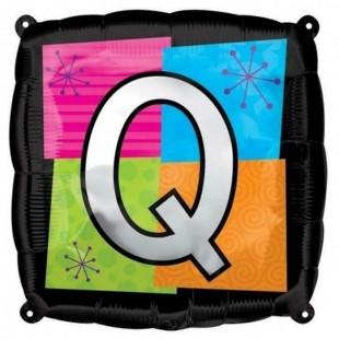 Square Letter Q Foil Balloon in Kuwait