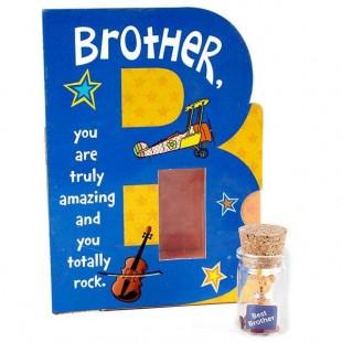 Buy Teddy In Glass Bottle - Brother in Kuwait