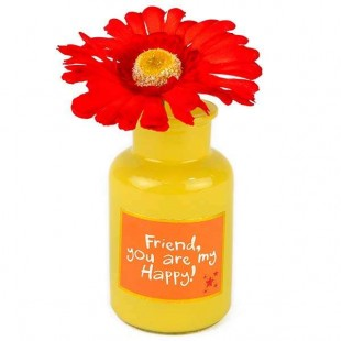 Buy Vase With Flower - Friend in Kuwait