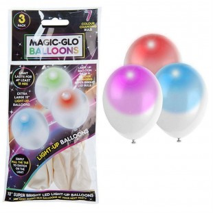 White Light Up Balloons In Bag -  Color Changing in Kuwait