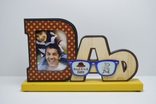 Wooden Photoframe - Dad Shaped in Kuwait