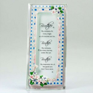 Buy You Are Best Brother Glass Quotation in Kuwait