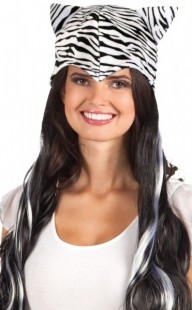 Zebra Look Ladies Wig in Kuwait